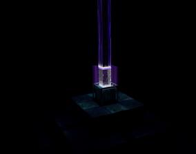 3D Minecraft Purple beacon