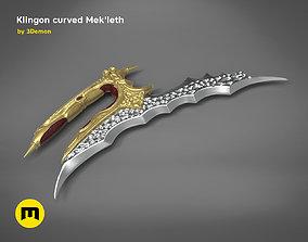 3D printable model Klingon curved Mekleth - Star Trek