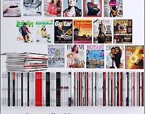 magazines collection 80 piece 3D