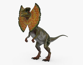 Dilophosaurus with Neck Frill HD 3D