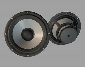 Audio Speaker Bass unit 3D