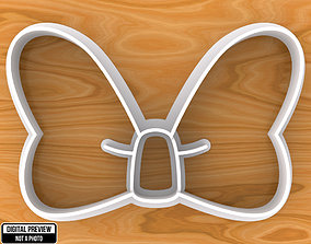 Minnie Mouse Bow Cookie Cutter 3D printable model