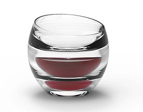 Glass wine 3D