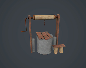 Well free 3D model low-poly