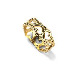 3D print model Loving Heart Ring