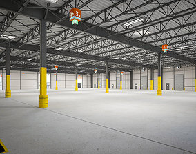 Exhibition Hall Warehouse 4 3D model