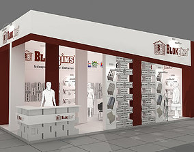 Exhibition Stand - ST0043 3D model