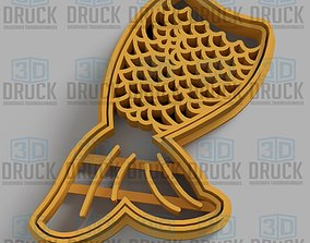 3D print model Siren - Sirena Cookie Cutter