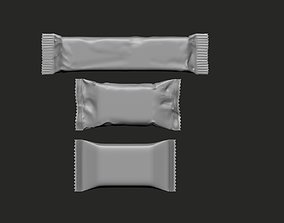 Packages for a bar snacks high poly meshes 3D print model