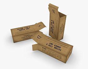 3D asset US K-Ration boxes