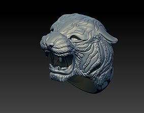 3D print model highly Tiger Ring