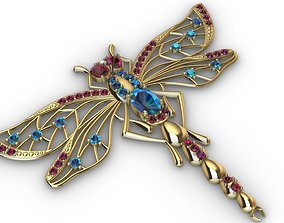 3D print model Brooche dragonfly