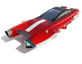 Flying racing car 3D