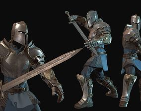 3D asset animated Knight