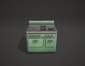 Mint Green Vintage Stove 3D model