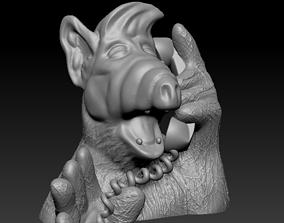 3D printable model Alf bust - Gordon Shumway