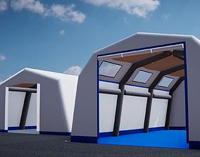 CDC Tents 3D model low-poly