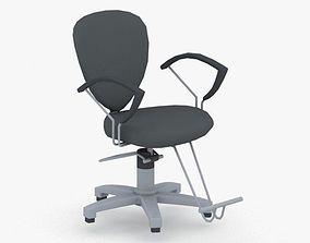3D asset 0895 - Hairdresser Chair