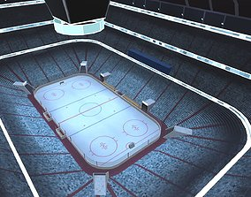 Hockey Arena Low Poly 3D model