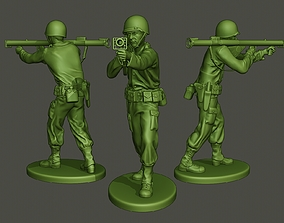 American soldier ww2 Shoot Stand A4 3D print model
