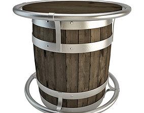 Barrel Table 3D model