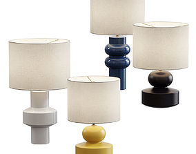 3D model West Elm Modern Totem Table Lamp