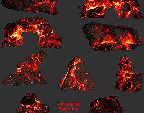lava rock set 1 3D model