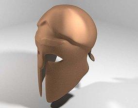 3D model Ancient Combat Helmet - Greek Spartan