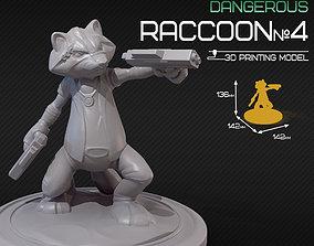 3D printable model Dangerous raccoon 4