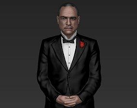 Marlon Brando Vito Corleone Godfather full color 3D