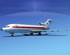 3D Boeing 727-100 Trans World 1