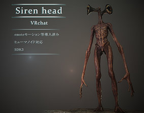 3D model rigged Siren head