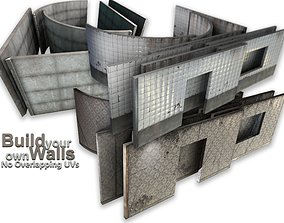 multi wall set - game ready 3D model exterior