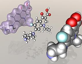 3D 85721-33-1 Ciprofloxacin molecule