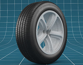 Car tire 02 3D