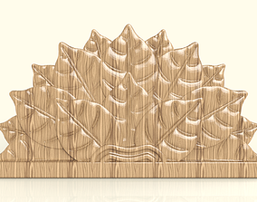 3D printable model BED HEADBOARD - LEAVES