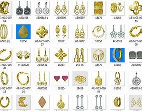 3D print model 2500 Women earrings jewelcad bulk 1