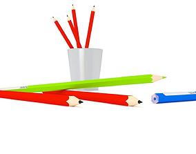 3D asset colored pencils