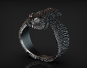 3D print model Stylized Bird Owl Ring
