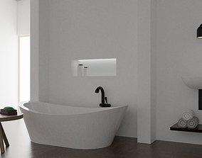 3D model Basic Bathroom