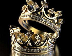 3dmodel Crown ring 3D print model