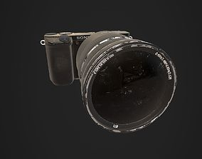 3D model Photo Camera a6300 with lens Zeiss