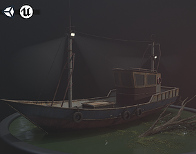 Old Rusted Fishing Boat - PBR and Game-Ready 3D asset