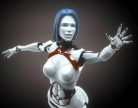 Robotic Woman Cyborg realistic 3D rigged