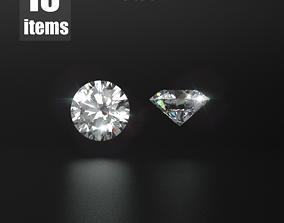 3D model Brilliant Cut Diamonds Pro Pack