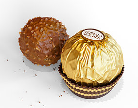 3D model Ferrero Chocolate with Package