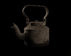 3D asset Indian tea kettle