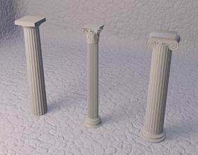 3D Classical greek columns