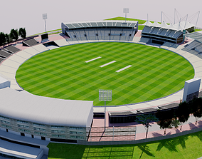 Rose Bowl Cricket Ground - England 3D model