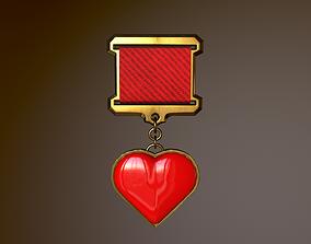 3D model Gold Heart Medal